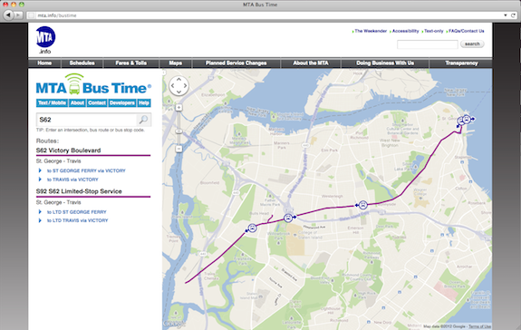 Desktop Route Search