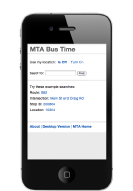 mobile interface on smartphones and text-only on web
