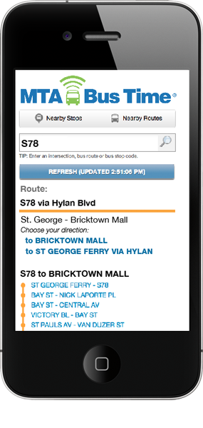 search by route in text-only or mobile web